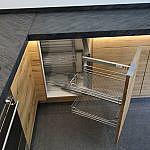 L-Küche in Asteiche mit Schieferplatte