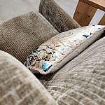 Sessel aus weichem Cord Samt