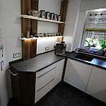 Küche mit Holzdetails